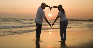 heart around sunset